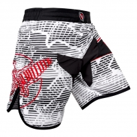 HAYABUSA FLEX FIGHT SHORTS WHITE