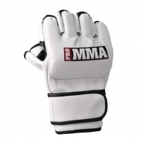 PRO MMA HIGH PERFORMANCE 4OZ GLOVES WHITE