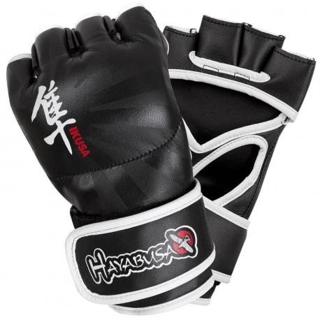 HAYABUSA IKUSA 4OZ MMA GLOVES - BLACK