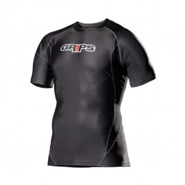 GRIPS ATHLETICS ARMADURA SHORT SLEEVED RASHGUARD - BLACK
