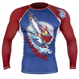 HAYABUSA NINJA FALCON RASHGUARD LONG SLEEVE - BLUE / RED