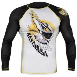 HAYABUSA NINJA FALCON RASHGUARD LONG SLEEVE - BLACK / YELLOW