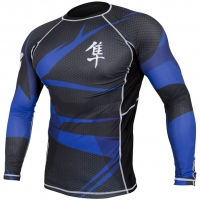HAYABUSA METARU RASHGUARD LONGSLEEVE BLACK/BLUE