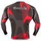 HAYABUSA METARU RASHGUARD LONGSLEEVE BLACK/RED