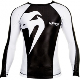 VENUM GIANT RASHGUARD - BLACK/ICE - LONG SLEEVES