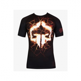 GROUND GAME RASHGUARD LAVA - SHORT SLEEVE