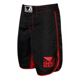 BAD BOY MMA SHORTS - BLACK/RED