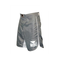 BAD BOY MMA SHORTS - GREY/WHITE
