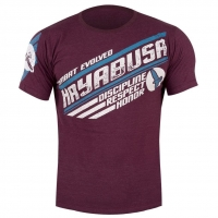 HAYABUSA COMBAT EVOLVED T-SHIRT - BURGUNDY