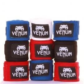 VENUM 2.5M BOXING HANDWRAPS - BLACK