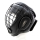PROFESSIONAL FIGHTER HEADGUARD WITH FACE PROTECTOR BLACK