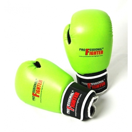 PROFESSIONAL FIGHTER Boxing Gloves GREEN LINE