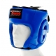 PROFESSIONAL FIGHTER MMA HEADGUARD LEATHER BLUE