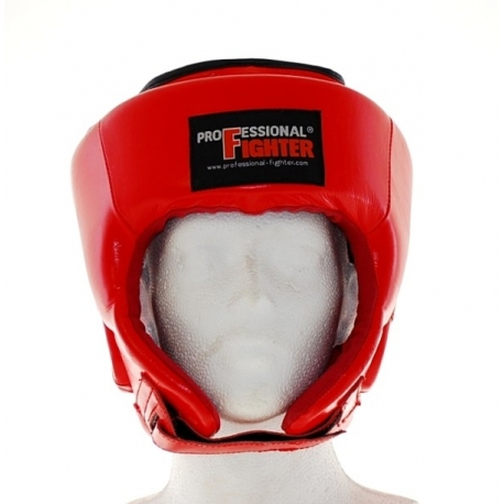 PROFESSIONAL FIGHTER MMA HEADGUARD LEATHER RED