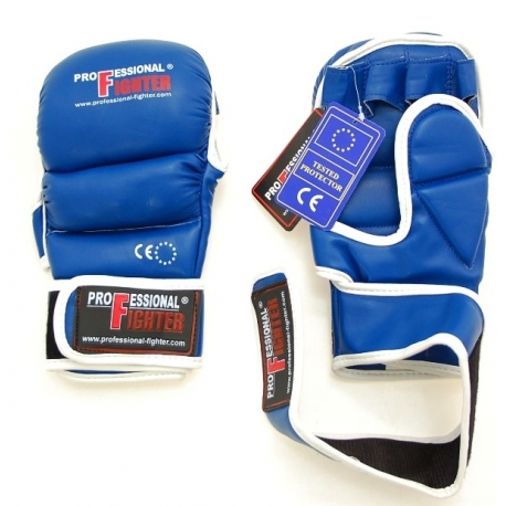 PROFESSIONAL FIGHTER MMA GLOVES BLUE