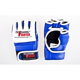 PROFESSIONAL FIGHTER MMA GLOVES SYNTHETIC LEATHER BLUE