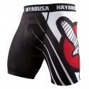 HAYABUSA RECAST COMPRESSION SHORTS - BLACK / WHITE