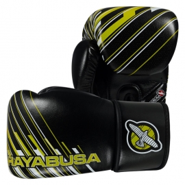 HAYABUSA IKUSA CHARGED 14OZ GLOVES - BLACK / LIME GREEN