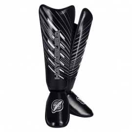 HAYABUSA IKUSA CHARGED SHINGUARDS - BLACK
