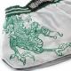 HAYABUSA SACRED MUAY THAI SHORTS - SILVER / GREEN