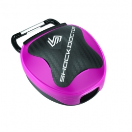 SHOCK DOCTOR ANTI-MICROBIAL MOUTHGUARD CASE PINK