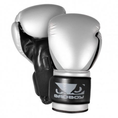 BAD BOY TRAINING SERIES 2.0 BOXING GLOVES Silver/Black