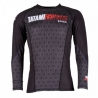 TATAMI ESSENTIALS BLACK HEXAGON RASHGUARD